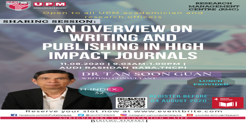 An Overview on Writing and Publishing in High Impact Journals