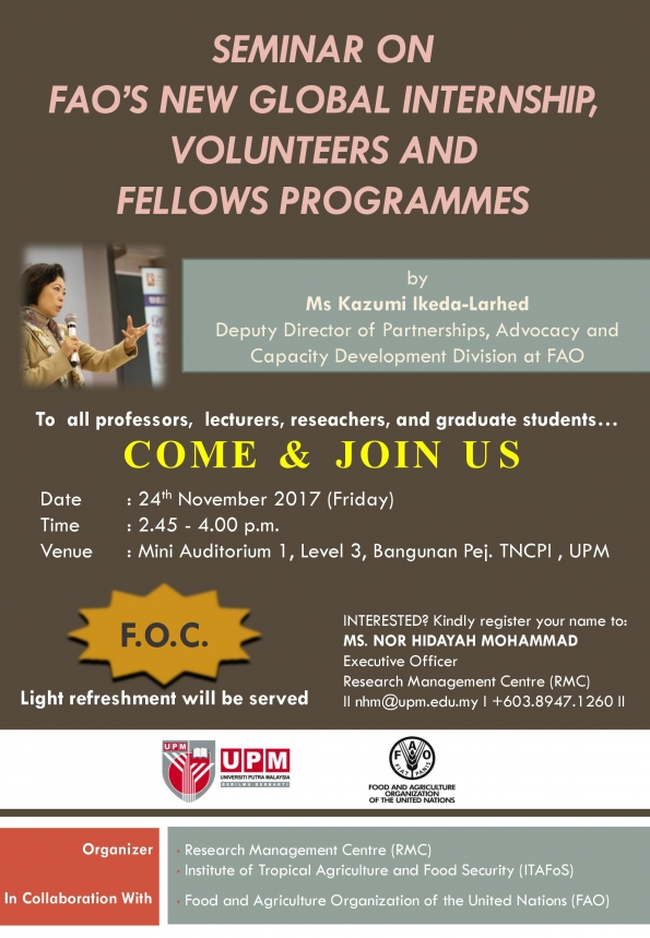 /activities/a_seminar_on_faos_new_global_internship_volunteers_and_fellows_programmes-12497